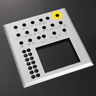 操作パネル SPCC  t2.0(焼付紛体塗装+スクリーン印刷)